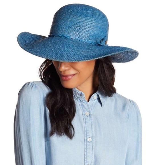 d81e042e32edd Tommy Bahama Blue Fine Crochet Raffia Hat
